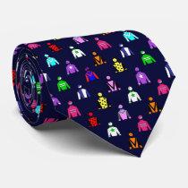Horse Racing Jockey Silks Neck Tie