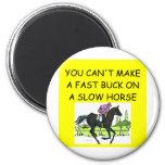 HORSE racing joke Magnets