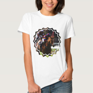 Horse Racing Ladies Fitted T-Shirt