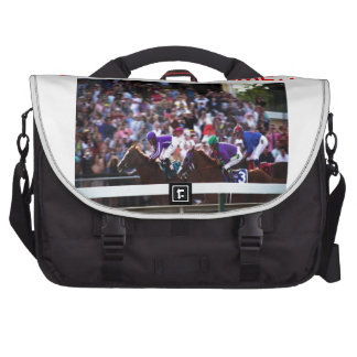 horse racing laptop commuter bag