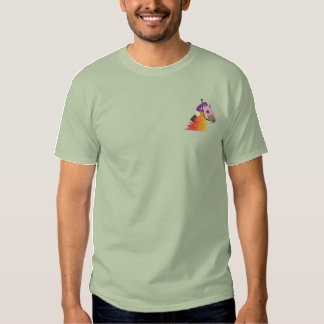 Horse Racing Logo Embroidered T-Shirt