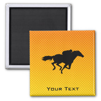 Horse Racing 2 Inch Square Magnet