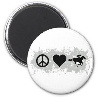 Horse racing fridge magnet