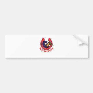 horse racing Melbourne retro Bumper Sticker