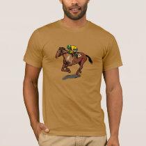 Horse Racing Mens T-Shirt