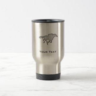Horse Racing; metal-look 15 Oz Stainless Steel Travel Mug