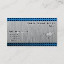 Horse Racing; metal-look Business Card