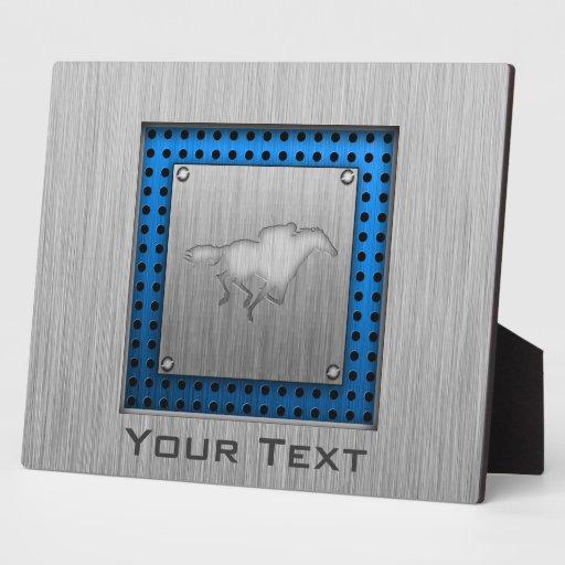 Horse Racing; metal-look Display Plaques
