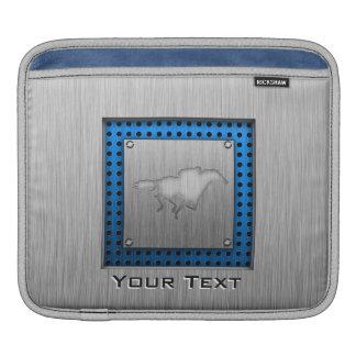Horse Racing metal-look iPad Sleeve