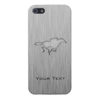 Horse Racing; metal-look Case For iPhone 5