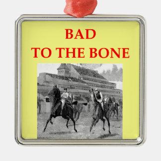 horse racing metal ornament