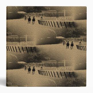 Horse Racing Muddy Track Grunge 3 Ring Binder