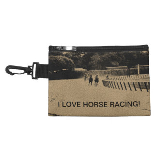 Horse Racing Muddy Track Grunge Accessory Bag