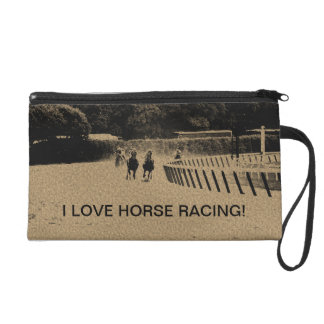 Horse Racing Muddy Track Grunge Wristlet Clutch