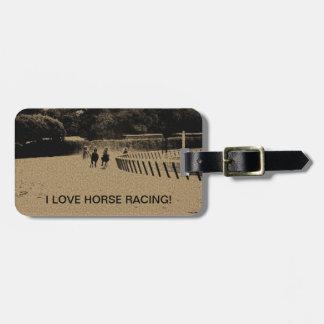 Horse Racing Muddy Track Grunge Bag Tag