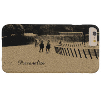 Horse Racing Muddy Track Grunge Barely There iPhone 6 Plus Case