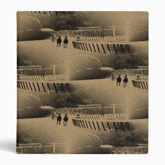 Horse Racing Muddy Track Grunge Binder