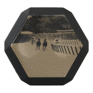 Horse Racing Muddy Track Grunge Black Bluetooth Speaker