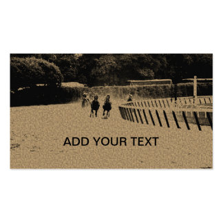 Horse Racing Muddy Track Grunge Business Card