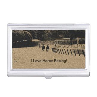 Horse Racing Muddy Track Grunge Business Card Holder