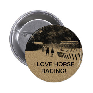 Horse Racing Muddy Track Grunge Button