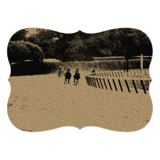 Horse Racing Muddy Track Grunge Card