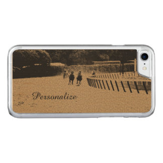 Horse Racing Muddy Track Grunge Carved iPhone 7 Case