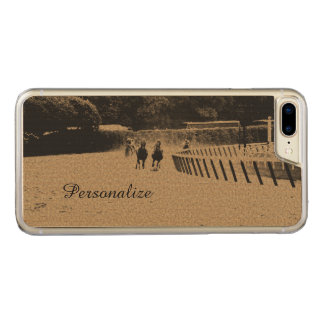 Horse Racing Muddy Track Grunge Carved iPhone 7 Plus Case