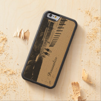 Horse Racing Muddy Track Grunge Carved® Maple iPhone 6 Bumper