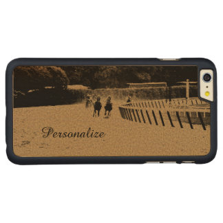 Horse Racing Muddy Track Grunge Carved® Maple iPhone 6 Plus Slim Case