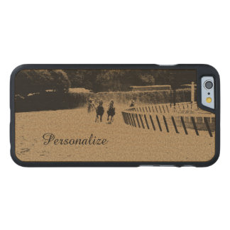 Horse Racing Muddy Track Grunge Carved® Maple iPhone 6 Slim Case