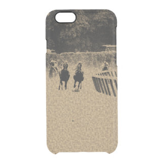 Horse Racing Muddy Track Grunge Clear iPhone 6/6S Case