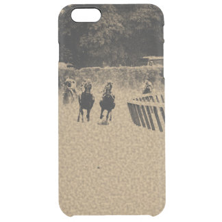 Horse Racing Muddy Track Grunge Clear iPhone 6 Plus Case