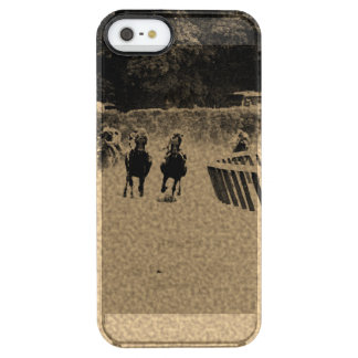 Horse Racing Muddy Track Grunge Clear iPhone SE/5/5s Case