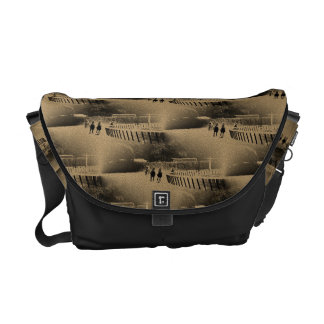 Horse Racing Muddy Track Grunge Courier Bag