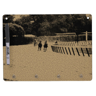 Horse Racing Muddy Track Grunge Dry Erase Board With Keychain Holder