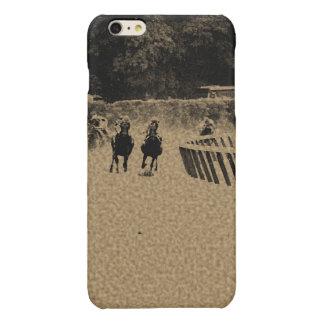 Horse Racing Muddy Track Grunge Glossy iPhone 6 Plus Case