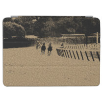Horse Racing Muddy Track Grunge iPad Air Cover