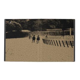 Horse Racing Muddy Track Grunge iPad Folio Case