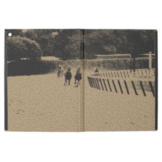"Horse Racing Muddy Track Grunge iPad Pro 12.9"" Case"