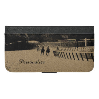Horse Racing Muddy Track Grunge iPhone 6/6s Plus Wallet Case