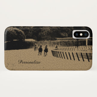 Horse Racing Muddy Track Grunge iPhone X Case