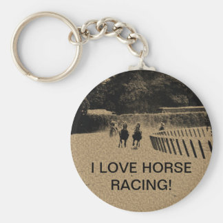 Horse Racing Muddy Track Grunge Keychain