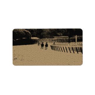 Horse Racing Muddy Track Grunge Label