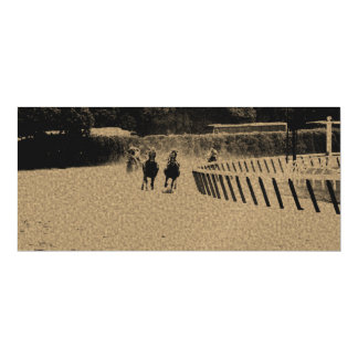 Horse Racing Muddy Track Grunge Magnetic Card