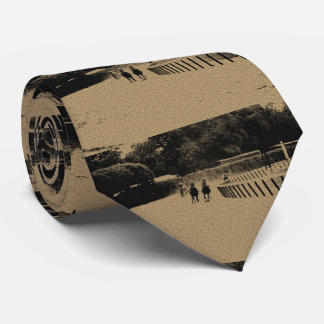 Horse Racing Muddy Track Grunge Neck Tie