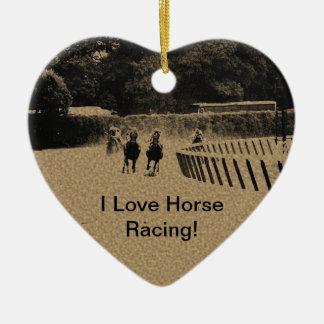 Horse Racing Muddy Track Grunge Christmas Ornament