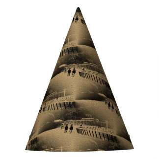 Horse Racing Muddy Track Grunge Party Hat