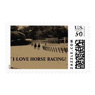 Horse Racing Muddy Track Grunge Postage