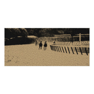 Horse Racing Muddy Track Grunge Rack Card